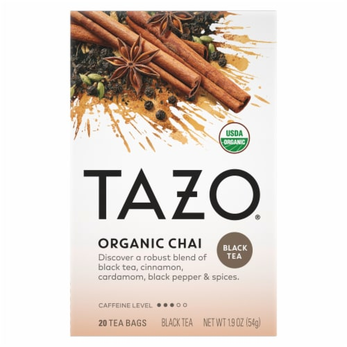 Tazo Tea Organic Tea - Spiced Black Chai - Case of 6 - 20 BAG Perspective: front