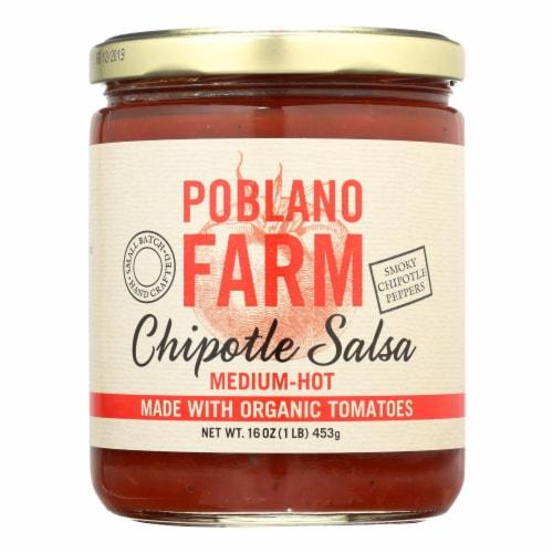 Poblano Farm - Chipotle Salsa - Medium Heat - Case of 12 - 16 oz. Perspective: front