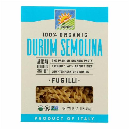 Bionaturae Pasta - Organic - 100 Percent Durum Semolina - Fusilli - 16 oz - case of 12 Perspective: front