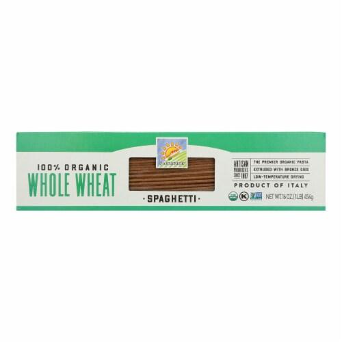 Bionaturae Pasta - Organic - 100 Percent Whole Wheat - Spaghetti - 16 oz - case of 12 Perspective: front