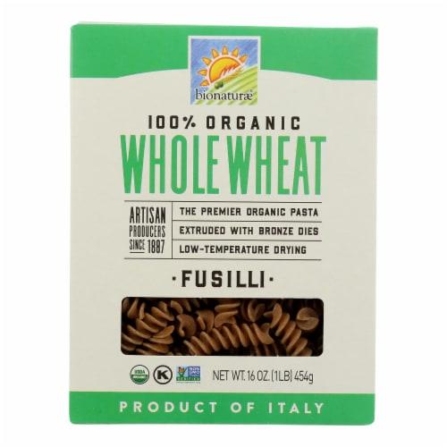 Bionaturae Pasta - Organic - 100 Percent Whole Wheat - Fusilli - 16 oz - case of 12 Perspective: front