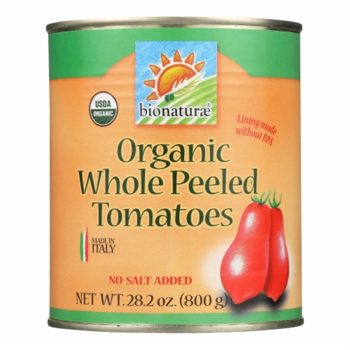 Bionaturae Organic Whole Peeled Tomatoes - Case of 12 - 28.2 oz. Perspective: front
