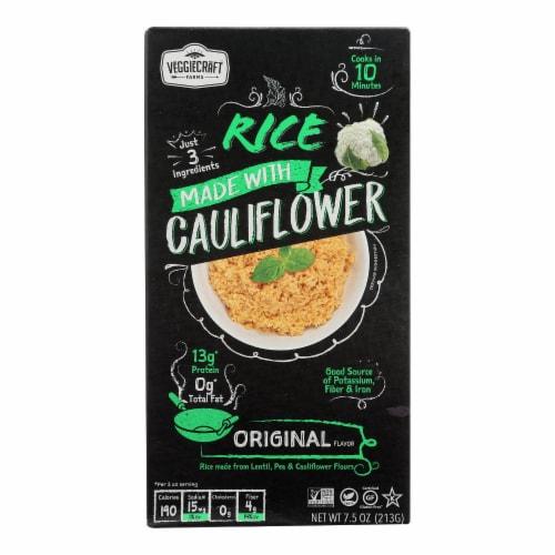Veggiecraft - Rice Original Cauliflower - Case of 12-7.5 OZ Perspective: front