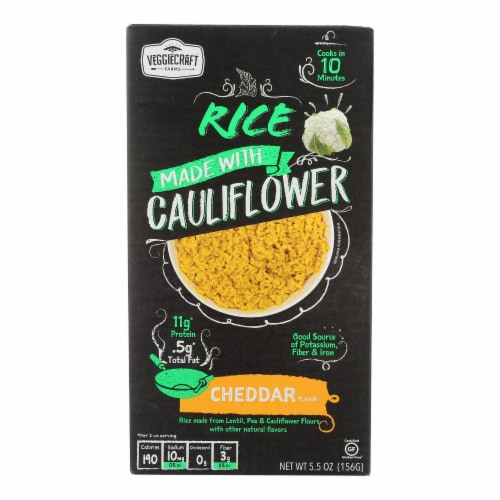 Veggiecraft - Rice Ched Chs Cauliflower - Case of 12-5.5 OZ Perspective: front