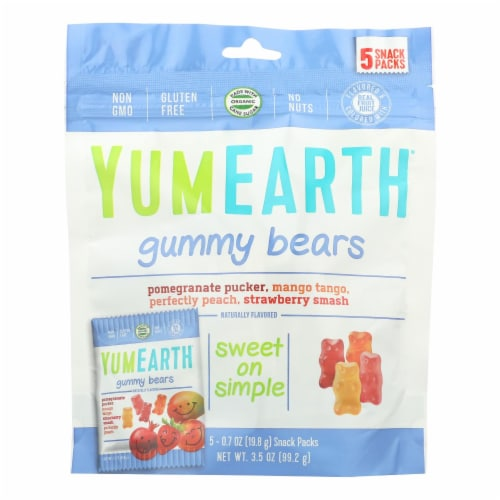 Yumearth Organics Organic Gummy Bear - Snack - Case of 12 - 0.7 oz. Perspective: front