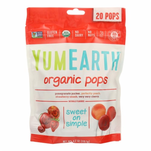Yumearth Organics Organic - Lollipops - Case of 12 - 4.2 oz. Perspective: front