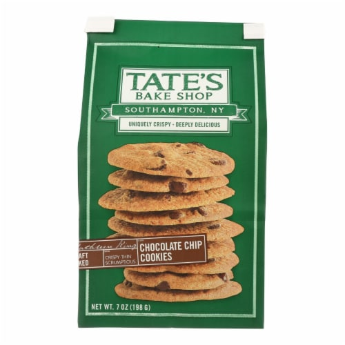 Tate's Bake Shop Double Chocolate Chip Cookies - Case of 12 - 7 oz. Perspective: front