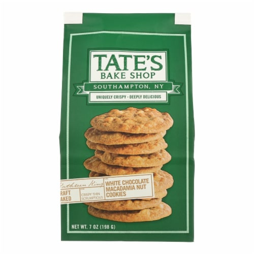Tate's Bake Shop White Chocolate Macadamia Nut Cookies - Case of 12 - 7 oz. Perspective: front