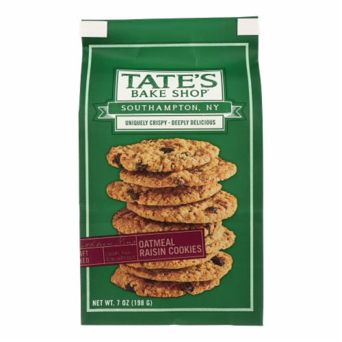 Tate's Bake Shop Oatmeal Raisin Cookies  - Case of 12 - 7 OZ Perspective: front