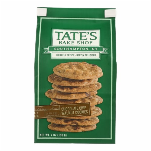 Tate's Bake Shop Chocolate Chip Walnut Cookies - Case of 12 - 7 oz. Perspective: front