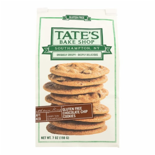 Tate's Bake Shop Cookies - Chocolate Chip - Case of 12 - 7 oz. Perspective: front