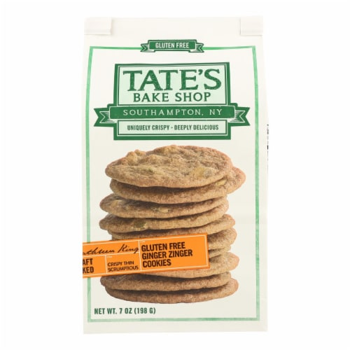 Tate's Bake Shop Ginger Zinger Cookies - Case of 12 - 7 oz. Perspective: front