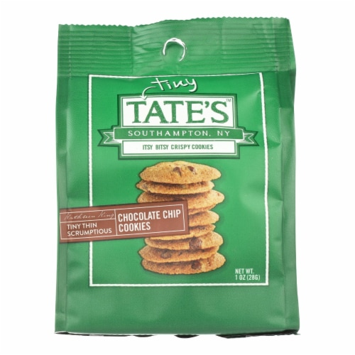 Tate's Bake Shop Itsy Bitsy Crispy Chocolate Chip Cookies  - Case of 12 - 1 OZ Perspective: front