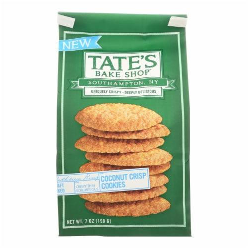 Tate's Bake Shop Coconut Crisp Cookies  - Case of 12 - 7 OZ Perspective: front