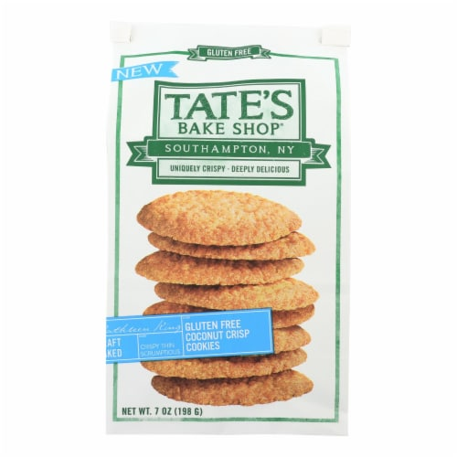 Tate's Bake Shop Gluten Free Coconut Crisp Cookies  - Case of 12 - 7 OZ Perspective: front
