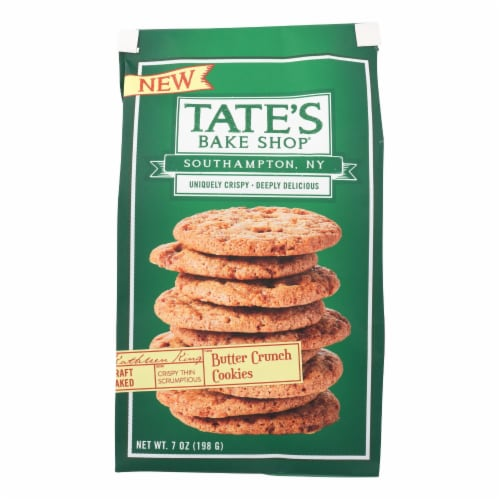Tate's Bake Shop Butter Crunch Cookies Butter Crunch - Case of 12 - 7 OZ Perspective: front