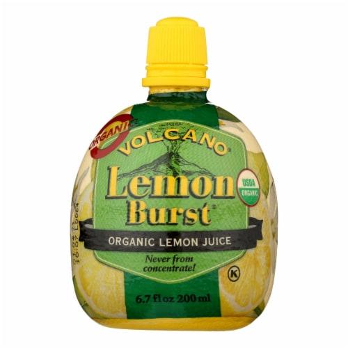 Volcano Lemon Burst Juice  - Case of 12 - 6.7 OZ Perspective: front