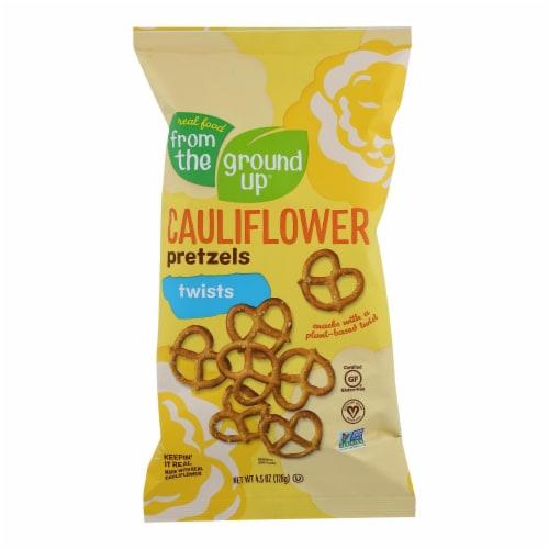 From The Ground Up - Cauliflower Pretzel Sticks - Twist - Case of 12 - 4.5 oz. Perspective: front
