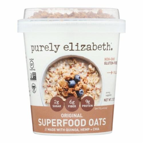 Purely Elizabeth. Original Superfood Oats  - Case of 12 - 2 OZ Perspective: front