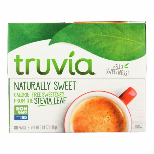 Truvia - Sweetener Natural - Case of 12 - 80 CT Perspective: front