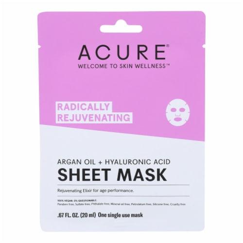 Acure - Sheet Mask - Rejuvenating - Case of 12 - 1 Ea Perspective: front