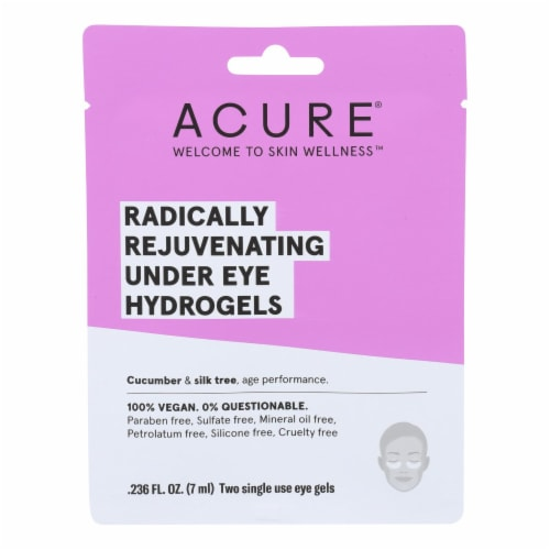 Acure - Under Eye Mask - Radically Rejuvenating Hydrogel - Case of 12 - 1 Each Perspective: front