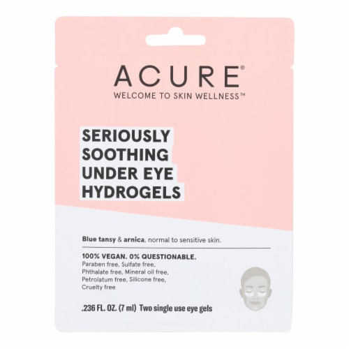 Acure - Seriously Soothing Under Eye Hydrogels - Case of 12 - 0.236 fl oz. Perspective: front