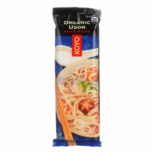 Koyo Organic Udon Noodles - Case of 12 - 8 OZ Perspective: front