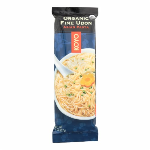 Koyo Organic Fine Udon Noodles - Case of 12 - 8 OZ Perspective: front