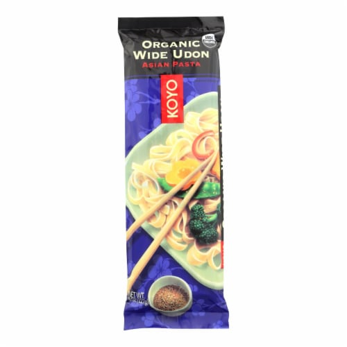 Koyo Organic Wide Udon Noodles - Case of 12 - 8 OZ Perspective: front