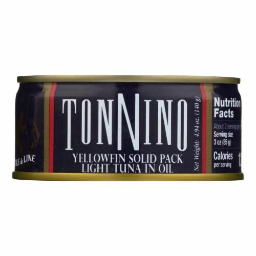 Tonnino Tuna - Light Tuna In Oil - Case of 12 - 4.94 OZ Perspective: front
