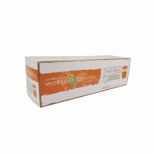 World Centric Compostable Waste Bag - Case of 12 - 3 Gal Perspective: front