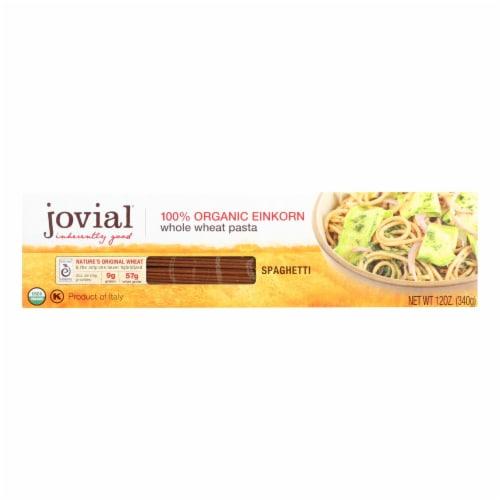 Jovial - Pasta - Organic - Whole Grain Einkorn - Spaghetti - 12 oz - case of 12 Perspective: front