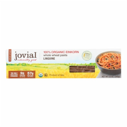 Jovial - Whole Wheat Einkorn Pasta - Linguine - Case of 12 - 12 oz. Perspective: front