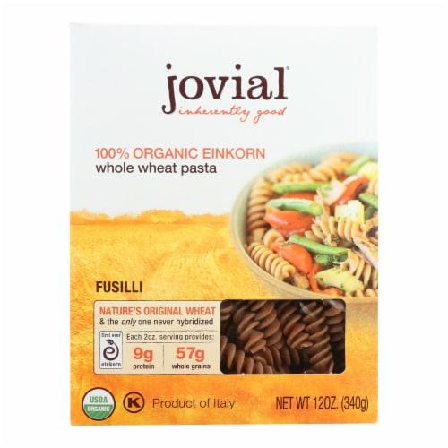 Jovial - Pasta - Organic - Whole Grain Einkorn - Fusilli - 12 oz - case of 12 Perspective: front