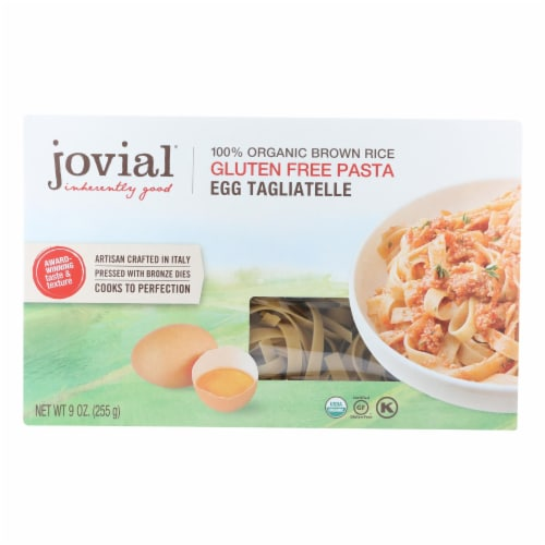 Jovial - Pasta - Organic - Brown Rice - Traditional Egg Tagliatelle - 9 oz - case of 12 Perspective: front