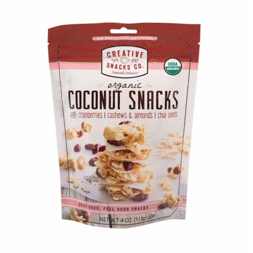 Creative Snacks - Bag - Coconut - Cranberry Nut - Case of 12 - 4 oz Perspective: front