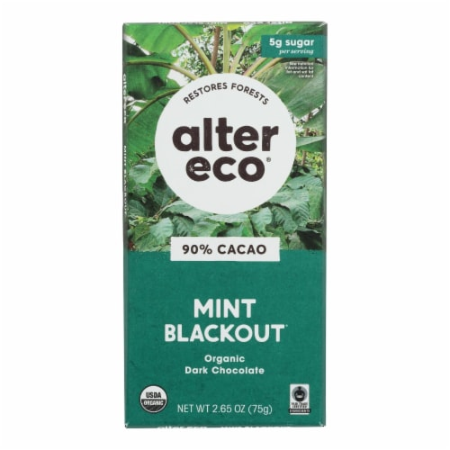Alter Eco Americas - Chocolate Dp Dark Crisp Mint - Case of 12 - 2.65 OZ Perspective: front