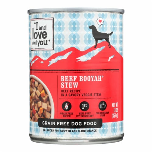 I and Love and You Beef Booyah Stew - Wet Food - Case of 12 - 13 oz. Perspective: front