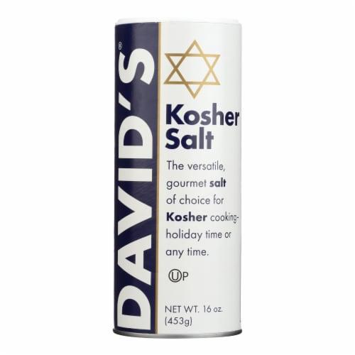 David's Kosher Salt - Case of 12 - 16 oz Perspective: front