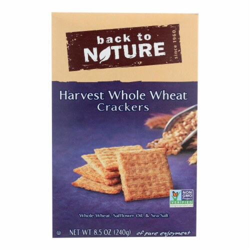 Back To Nature Harvest Whole Wheat Crackers-Whole Wheat Safflower Oil, Sea Salt-12PACK -8.5oz Perspective: front