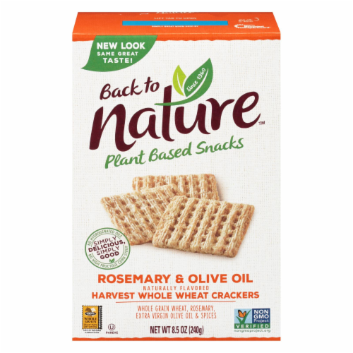 Back To Nature - Crackers Rsmry&olive Oil - Case of 12 - 8.5 OZ Perspective: front