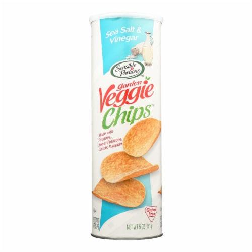 Sensible Portions Sea Salt & Vinegar Garden Veggie Chips  - Case of 12 - 5 OZ Perspective: front