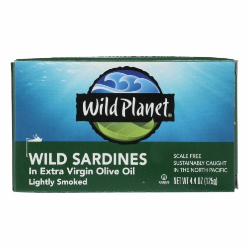 Wild Planet Wild Sardines In Extra Virgin Olive Oil - Case of 12 - 4.375 oz. Perspective: front