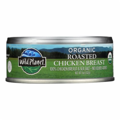Wild Planet Organic Canned Chicken Breast - Roasted - Case of 12 - 5 oz Perspective: front