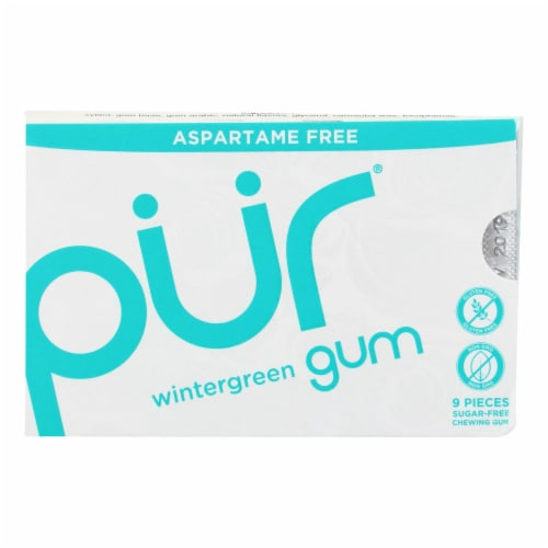 Pur Gum - Wintergreen - Aspartame Free - 9 Pieces - 12.6 g - Case of 12 Perspective: front