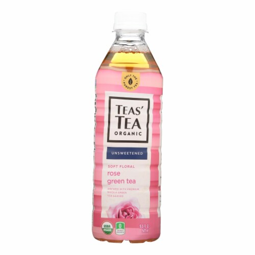 Itoen Tea - Organic - Rose - Green - Bottle - Case of 12 - 16.9 fl oz Perspective: front
