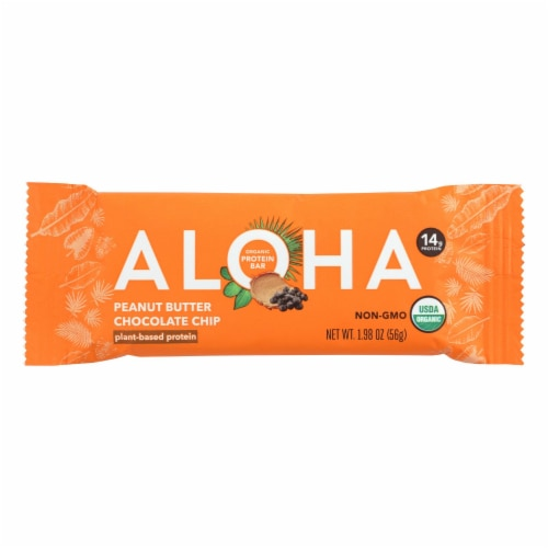Aloha (Bars)  Peanut Butter Chocolate Chip - Case Of 12 - 1.9 Oz Perspective: front