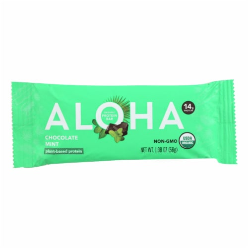 Aloha Bars - Protein Bar Og2 Chocolate Mint - Case of 12 - 1.9 oz Perspective: front