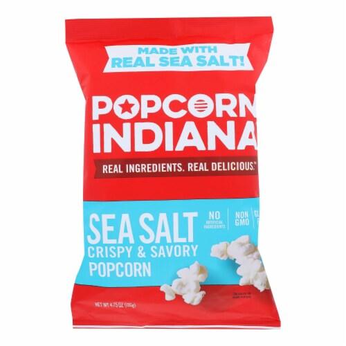 Popcorn Indiana Popcorn - Sea Salt - Case of 12 - 4.75 oz. Perspective: front